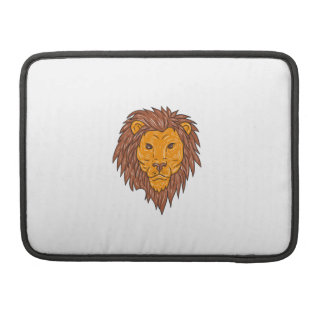 Male Lion Big Cat Head Drawing Sleeve For MacBooks