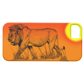 Male Lion  in sunset IPhone case