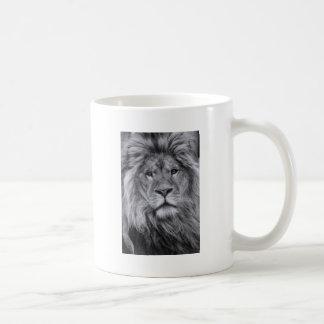 Male lion portrait coffee mug