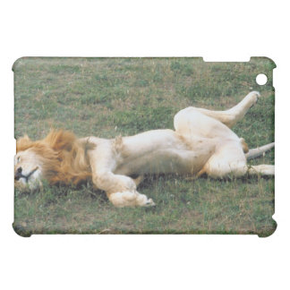 Male Lion Stretching iPad Mini Cover