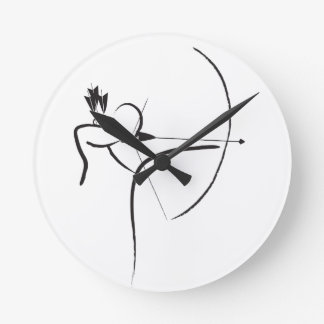 Male Longbow Archer Round Clock