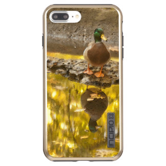 MALE MALLARD DUCK AND ITS REFLECTION IN  THE POND INCIPIO DualPro SHINE iPhone 8 PLUS/7 PLUS CASE