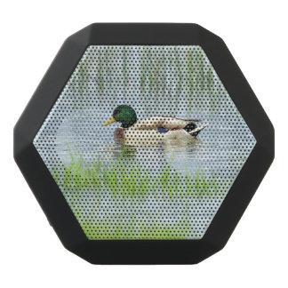 Male mallard or wild duck, anas platyrhynchos black bluetooth speaker