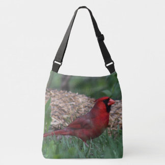 Male Northern Cardinal Crossbody Bag