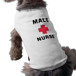 Male Nurse Dog T-shirt