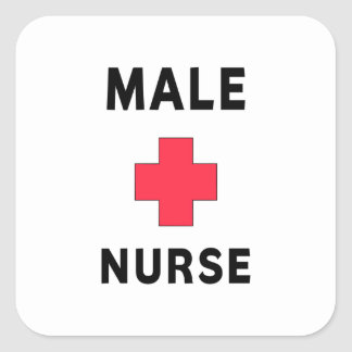 Male Nurse Square Sticker