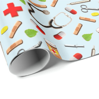 Male Nurse Wrapping Paper
