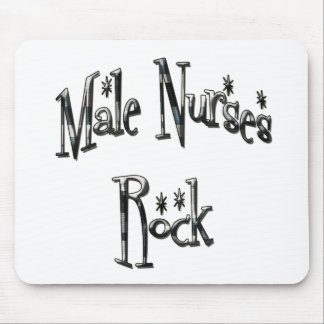 Male Nurses Rock Mouse Pad