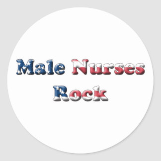 Male Nurses Rock Round Sticker