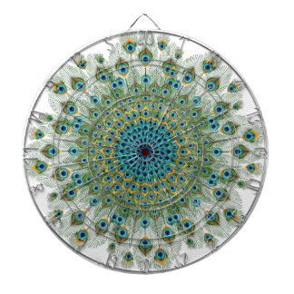Male Peacock Colorful Mandala Dartboard