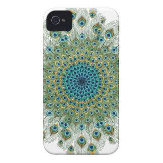 Male Peacock Colorful Mandala iPhone 4 Case-Mate Cases