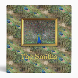 Male Peacock Feather Photo Album 3 Ring Binder