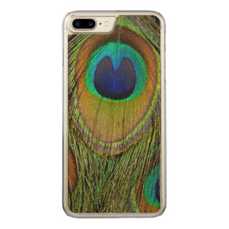 Male peacock tail feathers carved iPhone 7 plus case
