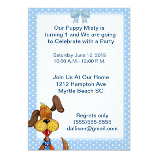 Male Pet Birthday Party Invitation