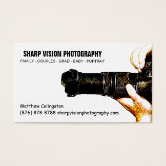 Male Photographer Photo Business Simple Business Card
