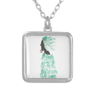 Male Pine Spirit Silver Plated Necklace