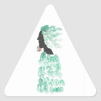 Male Pine Spirit Triangle Sticker