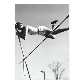 "Male Pole Vaulter 5"" X 7"" Invitation Card"