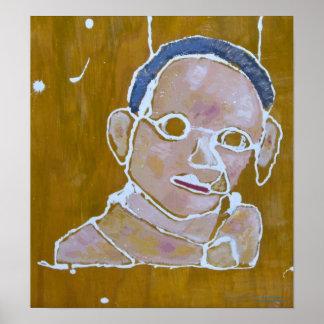Male portrait print