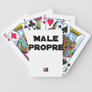 MÂLE-PROPRE - Word games - François City Bicycle Playing Cards