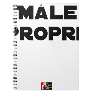 MÂLE-PROPRE - Word games - François City Notebooks