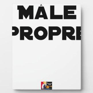 MÂLE-PROPRE - Word games - François City Plaque