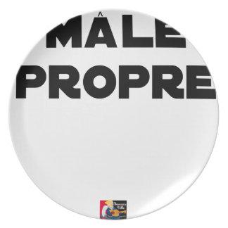 MÂLE-PROPRE - Word games - François City Plate