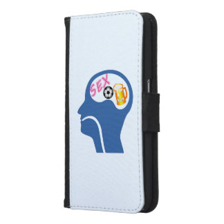 Male Psyche Samsung Galaxy S6 Wallet Case