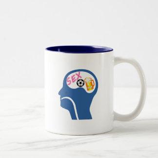 Male Psyche Two-Tone Coffee Mug