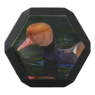 Male red-crested pochard, netta rufina, duck black bluetooth speaker