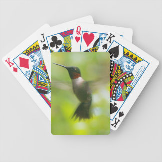 Male Ruby Throat Hummingbird Bicycle Playing Cards