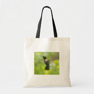 Male Ruby Throat Hummingbird Tote Bag