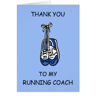 Male running coach Thanks Card