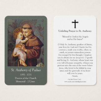 Male Saints Prayer Cards | St Anthony 1