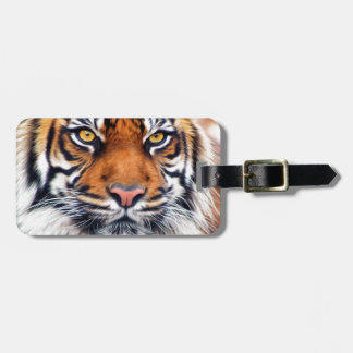 Male Siberian Tiger Paint Photograph Luggage Tag