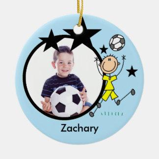 Male Soccer Star Keepsake Ornament
