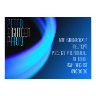 Male Space Birthday Invitation