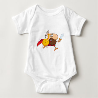 Male Spartan Gladiator  with Sword Baby Bodysuit