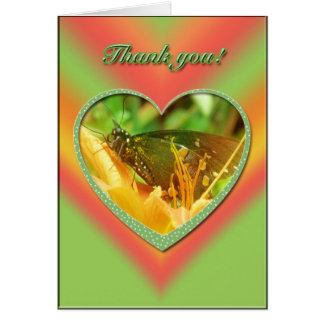 Male Spicebush Butterfly Thank You Card