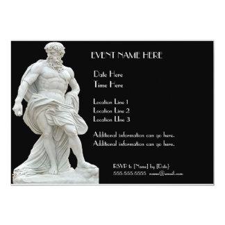 Male Statue Invitations