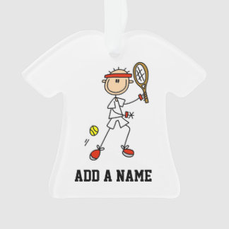 Male Stick Figure Tennis Player