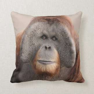 Male Sumatran Orangutan Wildlife Pillow