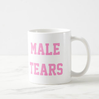 Male Tears Ironic Misandry Pink Coffee Mug