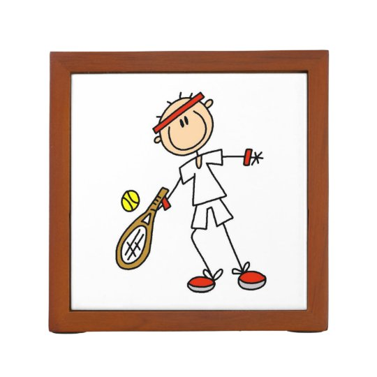 Male Tennis Player Desk Organizer