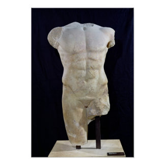 Male torso from Miletus, c.480 BC Poster