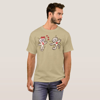 Male voodoo doll running from a female in love T-Shirt