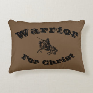 Male Warrior For Christ Accent Pillow