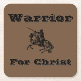 Male Warrior For Christ Coasters