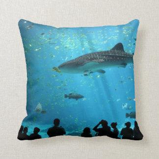 Male Whale Shark Throw Pillow
