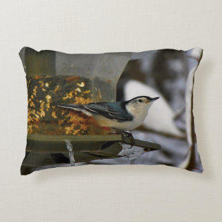 Male White-Breasted Nuthatch Decorative Pillow